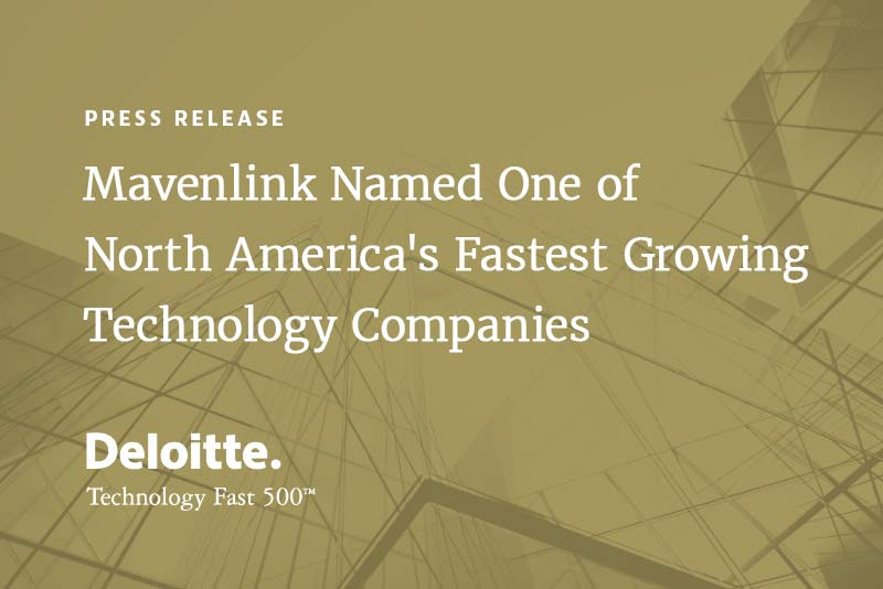Mavenlink Named One of North America's Fastest Growing Technology Companies on Deloitte's 2017 Technology Fast 500™