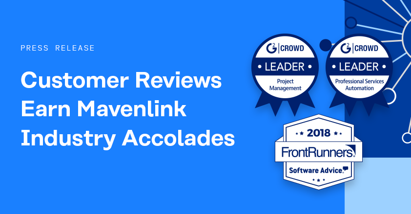 Industry Accolades Cement Mavenlink as Top-Rated by Customers