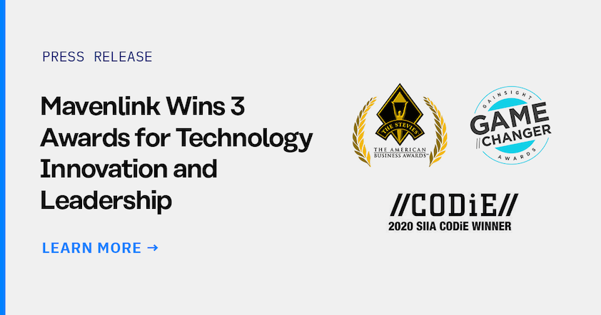 Mavenlink Wins Three Awards for Its Technology Innovation and Leadership in the Professional Services Industry