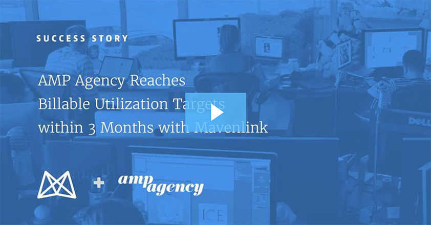 [Video] AMP Agency Reaches Billable Utilization Targets with Mavenlink