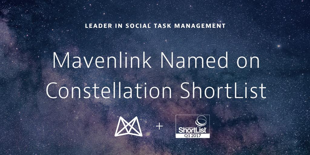 Mavenlink Named on the Constellation ShortListTM for Social Task Management